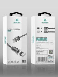 <b>Кабель</b> магнитный USB 2 в 1 (Lightning iPhone + Type-C) 1.1 m ...