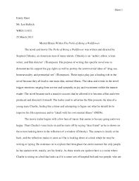 rhetorical analysis essay short 1emily shortmr lee bullockwrd111 03125 2013 mental illness in the perks