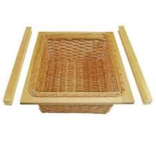 Wicker Basket Cabinet Pull Out Wicker Basket 500mm Kitchen Storage Larder Base Unit