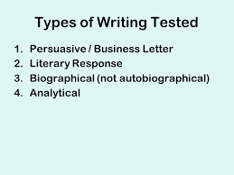 cahsee essay practice types of writing tested  persuasive  types of writing tested  persuasive  business letter  literary response