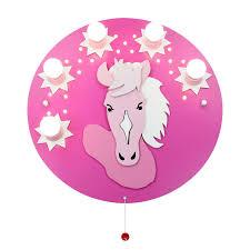 Deckenleuchte Pony In Rosa Pink Fünfflammig