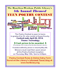 Contest poetry teen teen