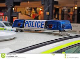 Police Car Lights Uk Police Car Lights Stock Photo Image Of Service Emergency