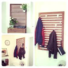 ikea coat rack wall panel and backpack kids room organization