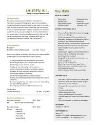 Business Operations Manager Resume Examples Cv Templates Samples