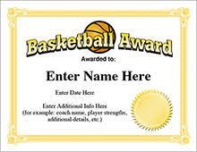 Basketball Awards Certificates Rome Fontanacountryinn Com