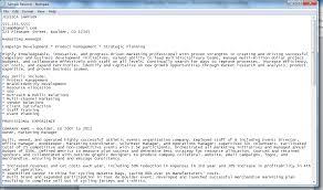 Plain Text Resume Template Executive Resume Template Guide To Plain Text Resumes Resume Talk