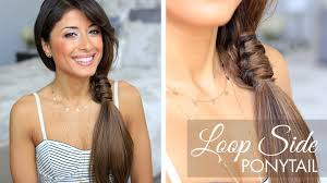Luxy Hair Style loop side ponytail cute hairstyle youtube 1932 by wearticles.com