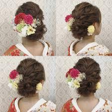 結婚式の前撮り 和装ロケーション撮影のお客様 人気の編み込みとロープ