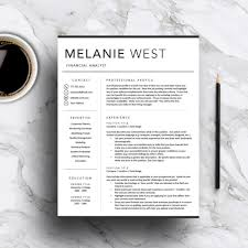 Creative Resume Template Modern Cv Word Cover Letter Ps Peppapp