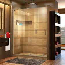 this review is from mirage x 56 in to 60 in x 72 in semi frameless sliding shower door in brushed nickel