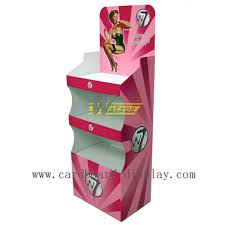 Retail Product Display Stands floor advertising cardboard tray display stand for 18