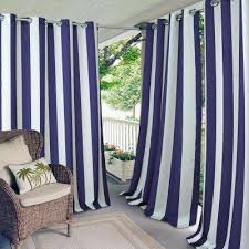Curtains for picture window Bath Aiden Stripe 50 In 108 In L Indooroutdoor Grommet Pinterest Striped Curtains Drapes Window Treatments The Home Depot