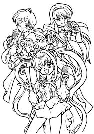 Small Picture Mermaid Melody Coloring Pages Hanon Mermaid Melody Sirena Coloring