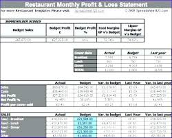 monthly profit and loss statement template free download simple monthly profit and loss statement template excel