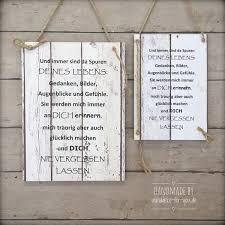 Schild Vintage Trauer Verlust Holzschild Mit Spruch Handmade