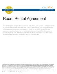 sample rental agreement letter printable sample rental agreement for room form real estate forms