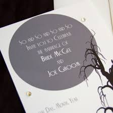 Halloween Wedding Invitations Tips For Choosing Halloween Wedding Invitations