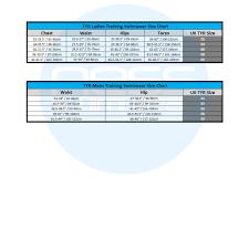 Tyr Adult Size Charts Ness Swimwear