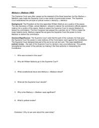 worksheets marbury v madison worksheet worksheets  marbury v madison case brief worksheet intrepidpath worksheets