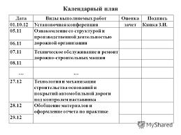 Презентация на тему УСТАНОВОЧНАЯ КОНФЕРЕНЦИЯ ПРОИЗВОДСТВЕННОЙ  7 Календарный план