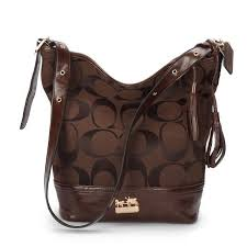 Coach Legacy Duffle In Printed Signature Medium Coffee Crossbody Bags ACG