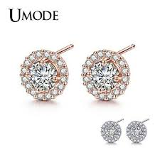 <b>UMODE</b> Korean Small <b>Stud Earrings</b> for Women Cubic Zirconia CZ ...