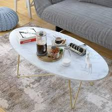 marble effect coffee table with gold