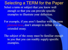 extended definition essay ppt selecting a term for the paper