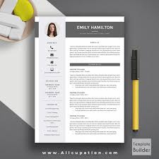 Modern Resume Templates Word Free Cv Template Professional Doc Docx ...