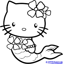 Small Picture Cat Mermaid Coloring Pages Coloring Pages