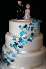 Melanie Ferris Cakes News Blue Butterfly Wedding Cake
