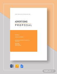 Advertising Proposal Template Word 13 Advertising Proposal Templates Word Apple Pages Pdf Free