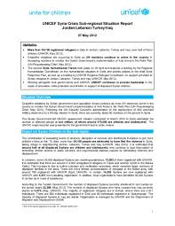 Situation Report Document UNICEF SubRegional Situation Report May 24 13