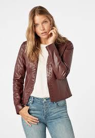 whip stitch faux leather jacket in decadent chocolate get great deals at justfab