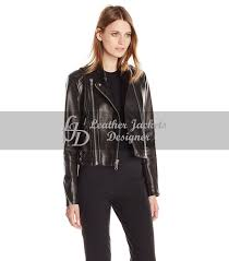women s vegan leather motorcycle jacket front