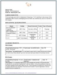 Format Of Resume For Fresher Engineers Pdf Kantosanpo Com