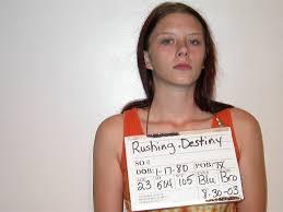 DESTINY RUSHING Inmate 206482: Brazoria Jail near Angleton, TX