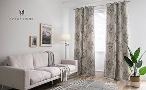 Damask Curtains Living Room