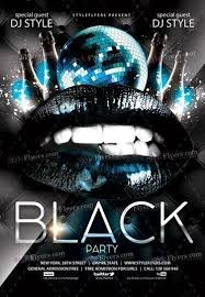 Black Flyer Backgrounds Black Party Psd Flyer Template