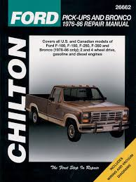 repair manual chilton 26662 fits 76 86 ford f 250