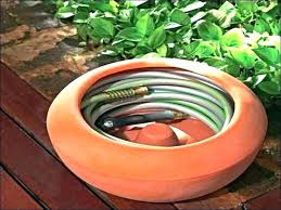 garden hose box storage container with lid reel bin