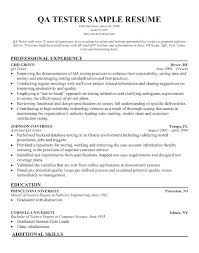 Software Resume Sample Resume Template Tester Resume Samples