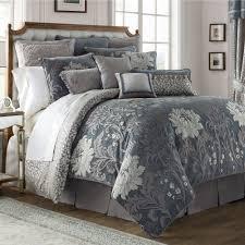 ansonia fl comforter set blue gray