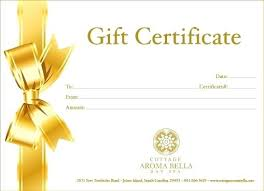 spa gift certificate template spa gift certificate template spa gift certificate sles