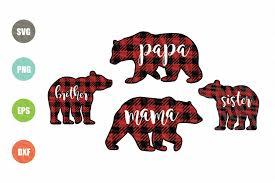 Large png 2400px small png 300px. Bear Buffalo Plaid Svg 167085 Svgs Design Bundles