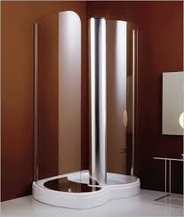 Brown Painted Bathrooms Gregorius Bathroom With Free Standing Unique Spiral Corner Shower