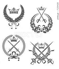記章 エンブレム 紋章 材料のイラスト素材 Pixta