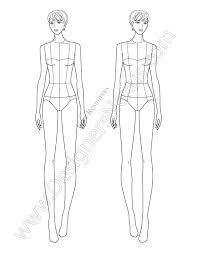 V68 Fashion Illustration Template Designers Nexus