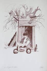 Shelly Fink - Tommy's Tree House (Artist Proof) For Sale at 1stDibs